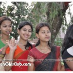 beautiful assam girls pics in red saree