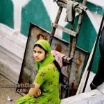 beautiful muslim girl in green chudidhar from delhi