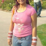 Bengali Girl Amrita in Jeans and T-Shirt
