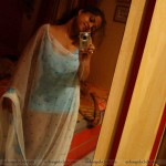 real life north indian girls night dress self-pics