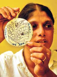 Sandya Kumari Jayawardene said her daughter would always give her parents handmade gifts.