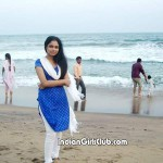 Madurai College Girl At Besant Nagar Beach