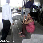 bangalore call center girl smoking near staircase