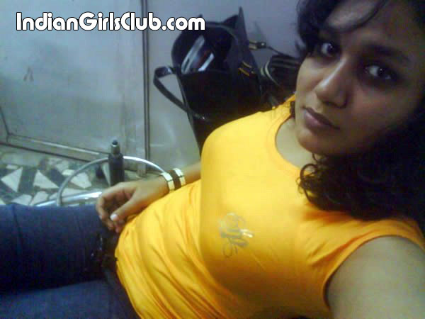 bangladeshi girl in tight yellow t-shirt and jeans pant