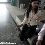 cute bangalore call center girl speaking to her boyfriend and smoking