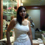 desi girl in white dress