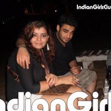 drunk nri girl smoking with boyfriend