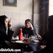 hot arab girls smoking