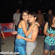 indian car girls hugging