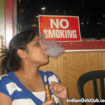 indian girl smoking at no smoking zone