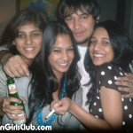 indian girls drinking kingfisher beer