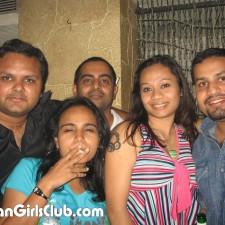 mumbai girl smoking with colleagues