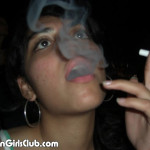 nri babe watching and smoking
