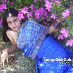 young mallu babe with flowers