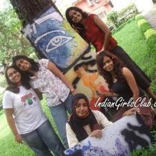 desi college girls painting