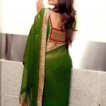 Indian girls saree back pose