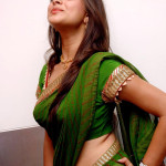 Indian girls perfectly wrapped in saree