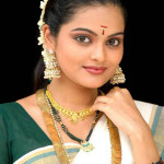 kerala girl set saree green