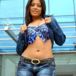 Actress Meghna Short Jeans Trousers