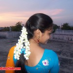 Chennai Girl Real Life Photo on Terrace