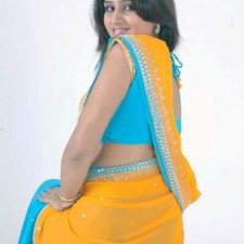girls saree back pose