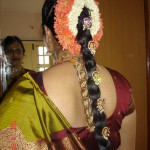South Indian Silk Saree Bride in Front Mirror