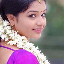 young girl saree jasmine flower