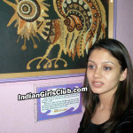 art gallery indian girl