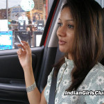 indian babes smoking inside car
