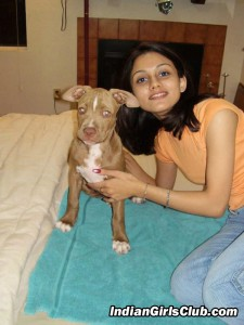 indian girls pet dog