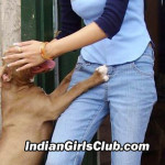 indian girls playing dogs