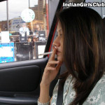 indian girls smoking inside car