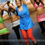 Actress Swetha Basu Dancing in Blue Dress