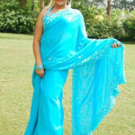 Kandupuduchittaen blue sari actress