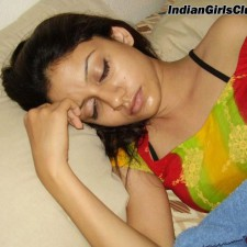 indian college girl sleeping