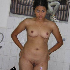 indian girl standing completely nude