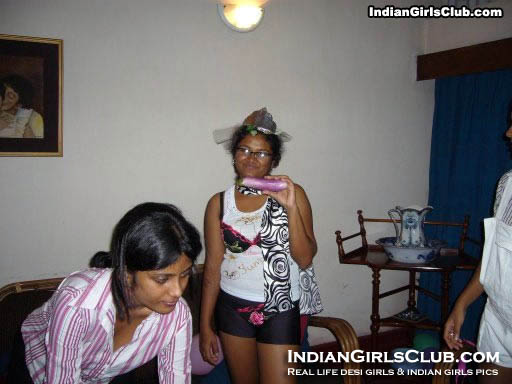 mischievous girls showing brinjal