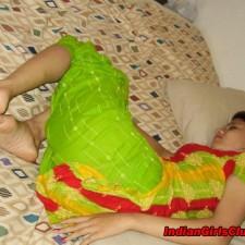 sleeping on bed indian girl
