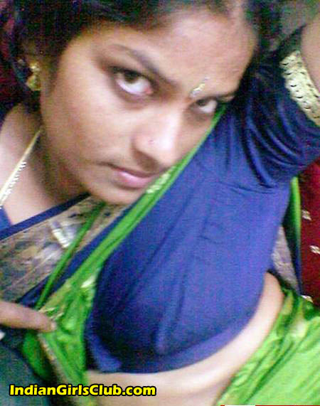 removing Tamil saree aunt nude