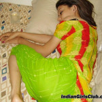 young indian girl sleeping