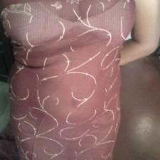 transparent saree navel