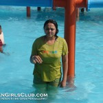 Desi Aunty Water Park Enjoying Wet