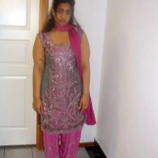 cute desi babe pink chudidhar