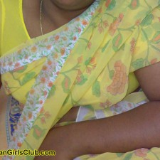 saree mallu aunty chest part