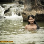 Teen Indian Girls Bathing in River