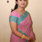 Telugu Aunty in Pink Saree