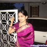 Silk Saree Sneha Telugu Aunty