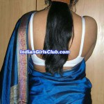 Indian Girl Showing Saree Back Pose