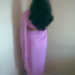 indian girls back pose saree
