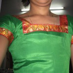 Young Traditional South Indian Girl Pavadai Sattai Boobs